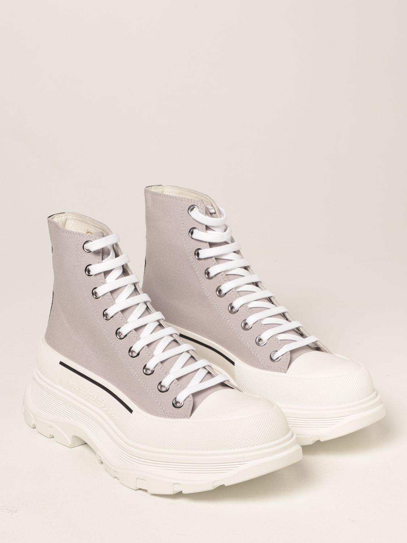 Boots Alexander Mcqueen: Alexander McQueen ankle boot in canvas grey 2