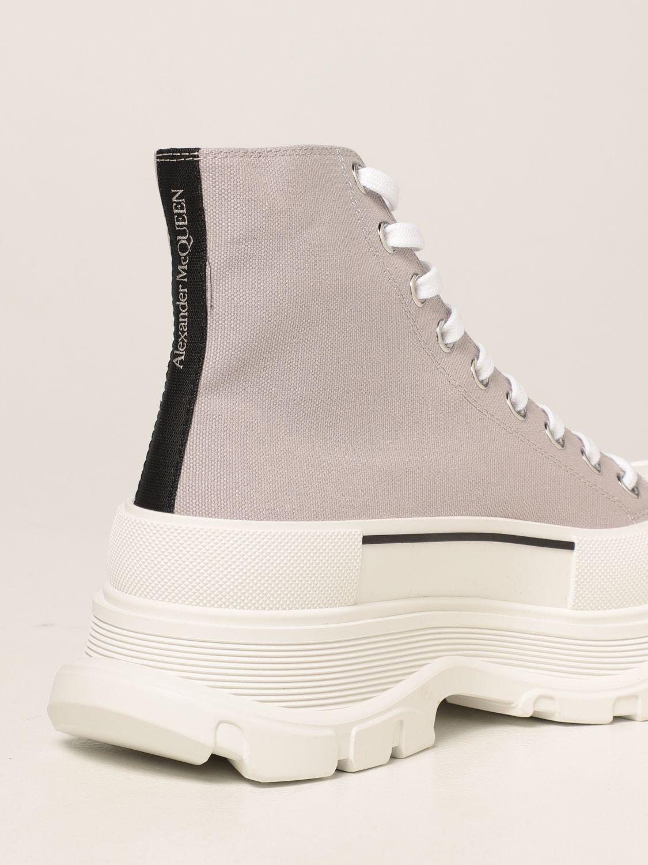 Boots Alexander Mcqueen: Alexander McQueen ankle boot in canvas grey 3