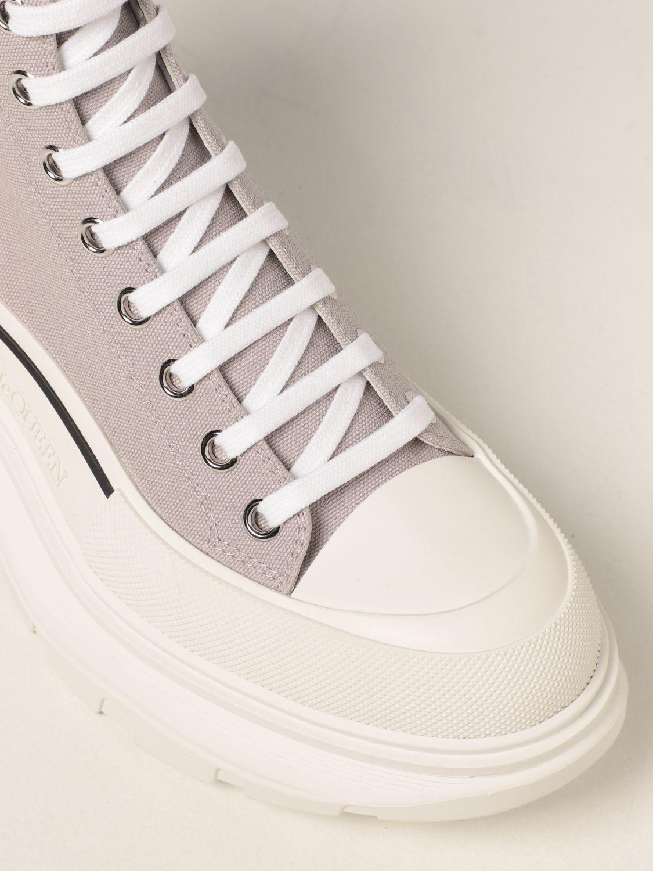 Boots Alexander Mcqueen: Alexander McQueen ankle boot in canvas grey 4