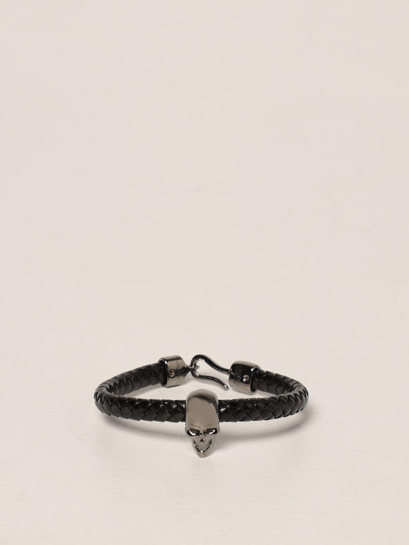 Gioielli Alexander Mcqueen: Bracciale Skull Alexander McQueen nero 1