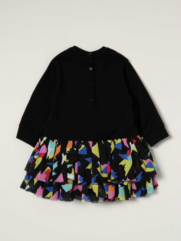 连体装 Balmain: Balmain 图案半身裙棉质连衣裙 黑色 2
