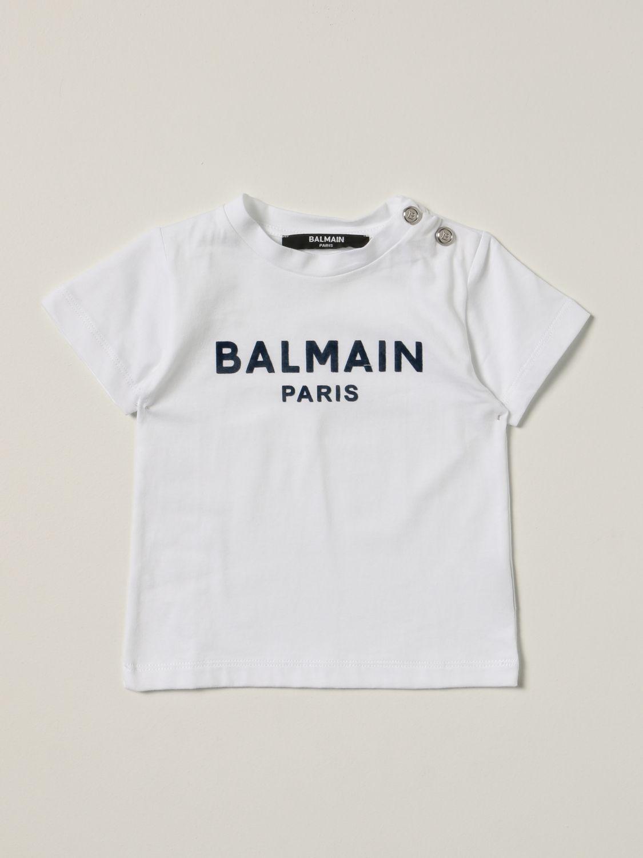 T-shirt Balmain: Balmain cotton t-shirt with logo white 1 1