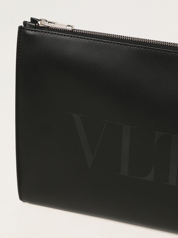 Portadocumenti Valentino Garavani: Portadocumenti Valentino Garavani in pelle con logo VLTN nero 4