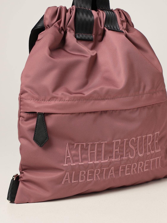 Zaino Athleisure Alberta Ferretti: Zaino Capsule Collection Athleisure Alberta Ferretti con logo ricamato rosa 3