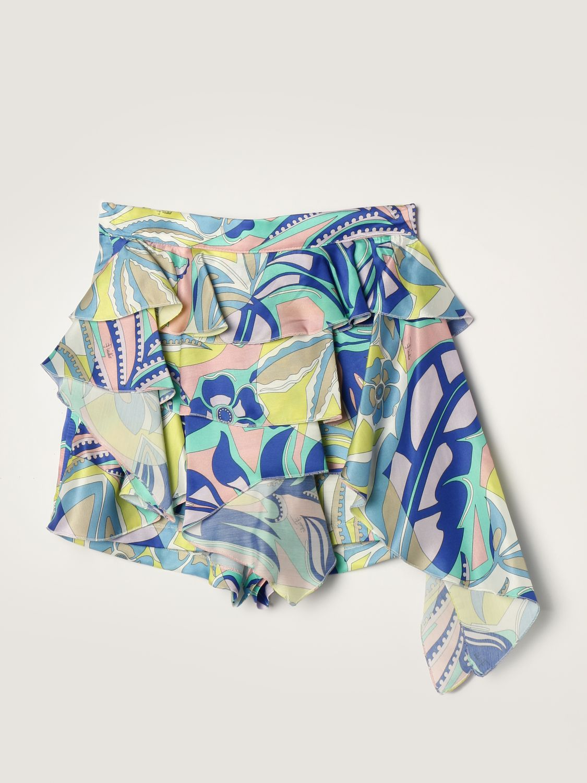 Short Emilio Pucci: Emilio Pucci shorts in silk blend green 1
