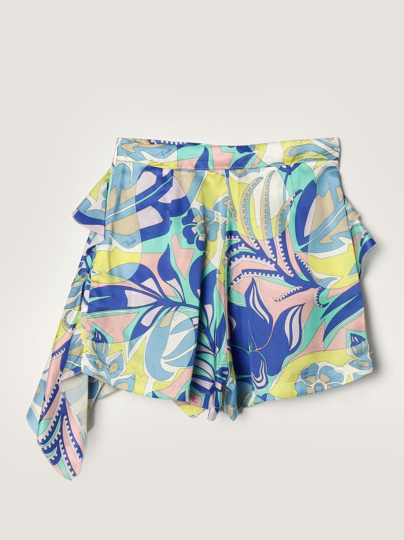 Short Emilio Pucci: Emilio Pucci shorts in silk blend green 2