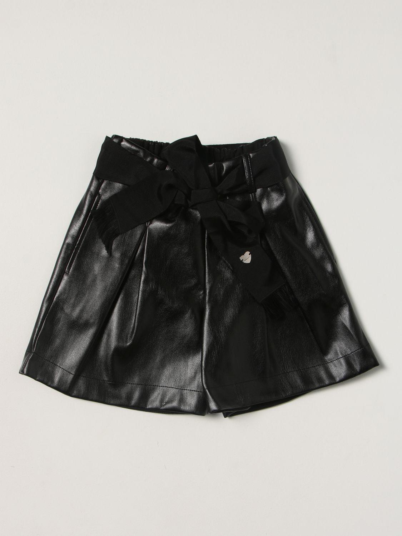 Short Monnalisa: Monnalisa metallic shorts black 1
