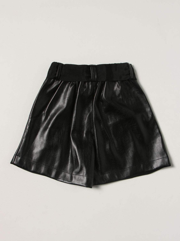 Short Monnalisa: Monnalisa metallic shorts black 2