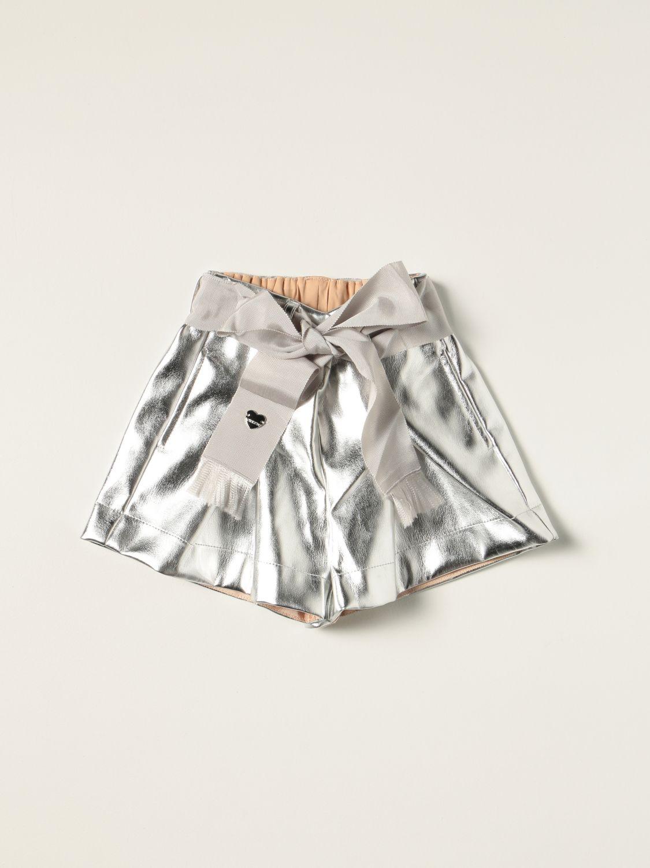 Short Monnalisa: Monnalisa metallic shorts silver 1