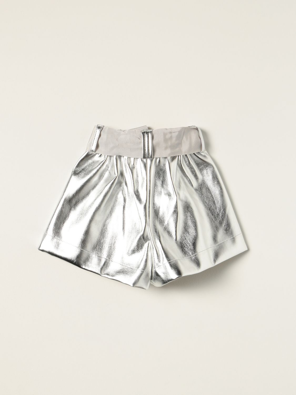 Short Monnalisa: Monnalisa metallic shorts silver 2