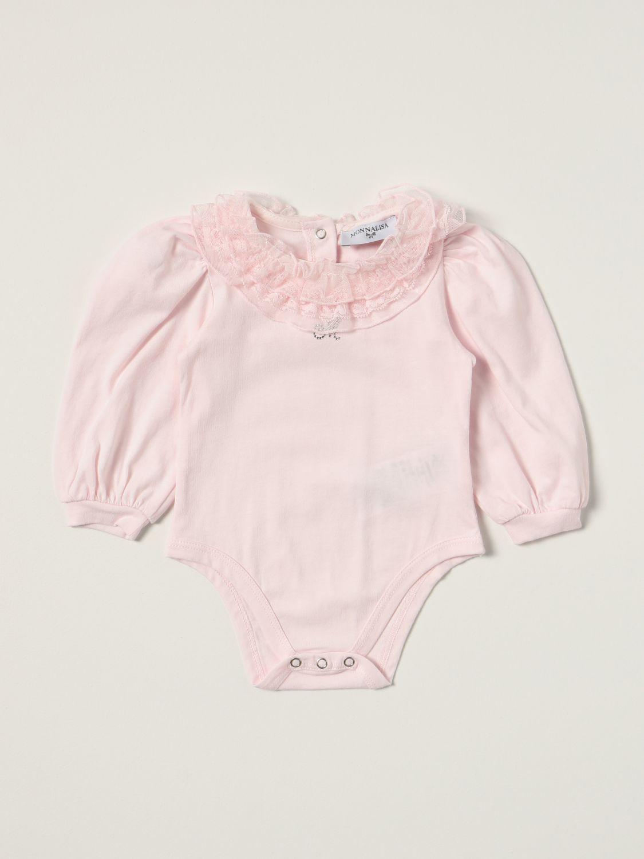 Bodysuit Monnalisa: Monnalisa body in cotton with ruches pink 1