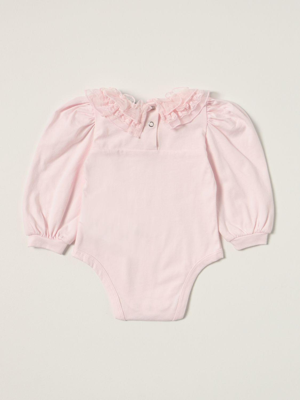 Bodysuit Monnalisa: Monnalisa body in cotton with ruches pink 2