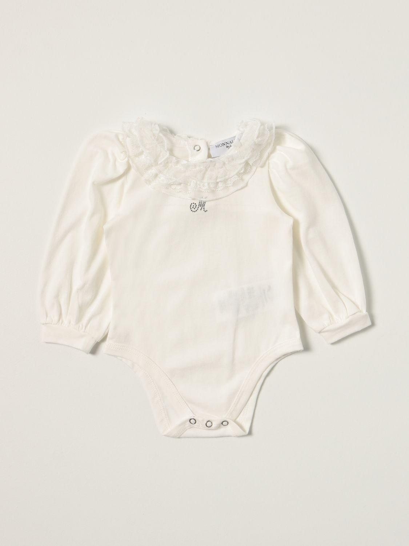 Bodysuit Monnalisa: Monnalisa body in cotton with ruches yellow cream 1