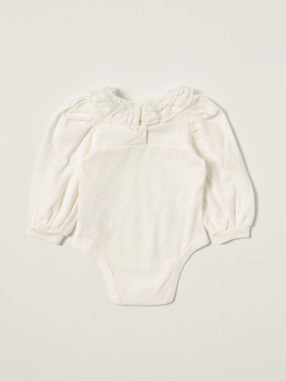 Bodysuit Monnalisa: Monnalisa body in cotton with ruches yellow cream 2
