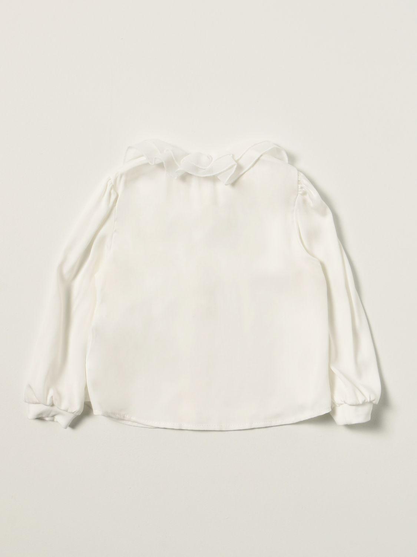衬衫 Monnalisa: Monnalisa 水钻Logo衬衫 奶油黄 2