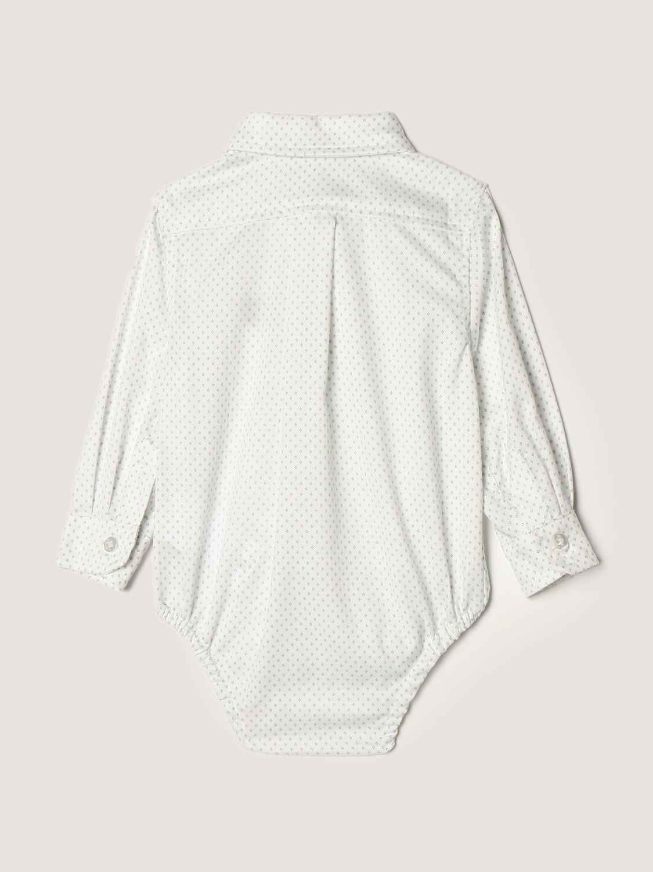 Body Monnalisa: Body a camicia Monnalisa in cotone bianco 2