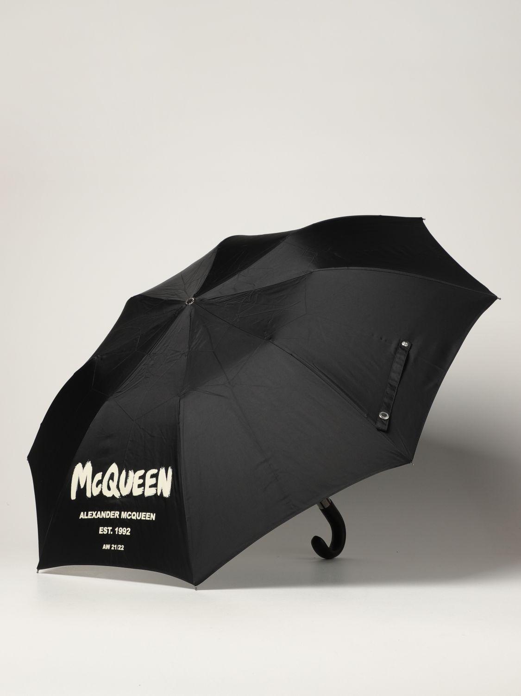 Umbrella Alexander Mcqueen: Alexander McQueen umbrella with graffiti logo black 2