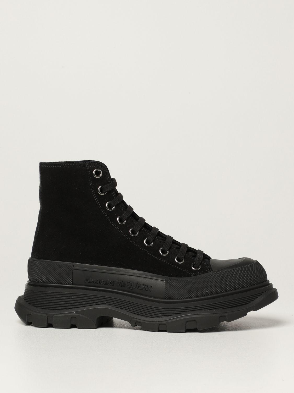 Boots Alexander Mcqueen: Alexander McQueen ankle boot in suede black 1