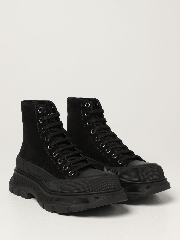Boots Alexander Mcqueen: Alexander McQueen ankle boot in suede black 2