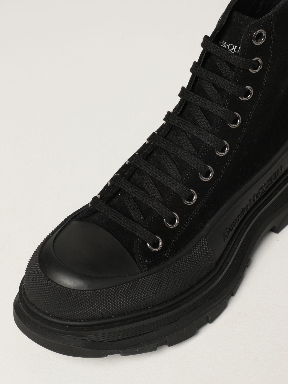 Boots Alexander Mcqueen: Alexander McQueen ankle boot in suede black 4