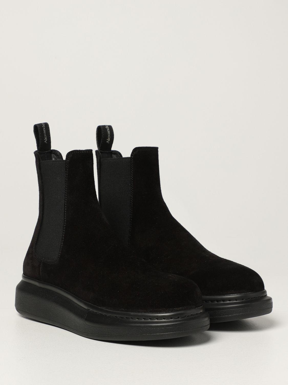 Boots Alexander Mcqueen: Alexander McQueen Chelsea boot in suede black 2