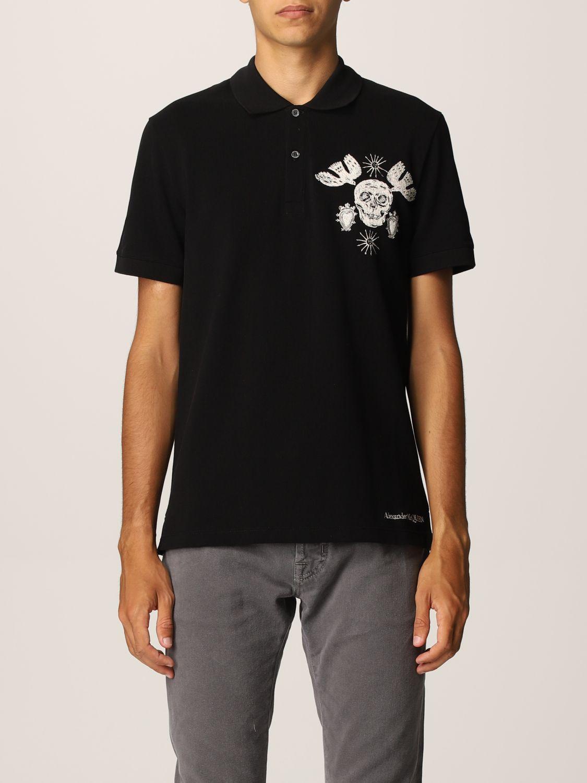 Polo shirt Alexander Mcqueen: Alexander McQueen polo shirt with skull black 1