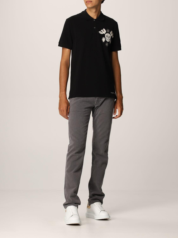 Polo shirt Alexander Mcqueen: Alexander McQueen polo shirt with skull black 2