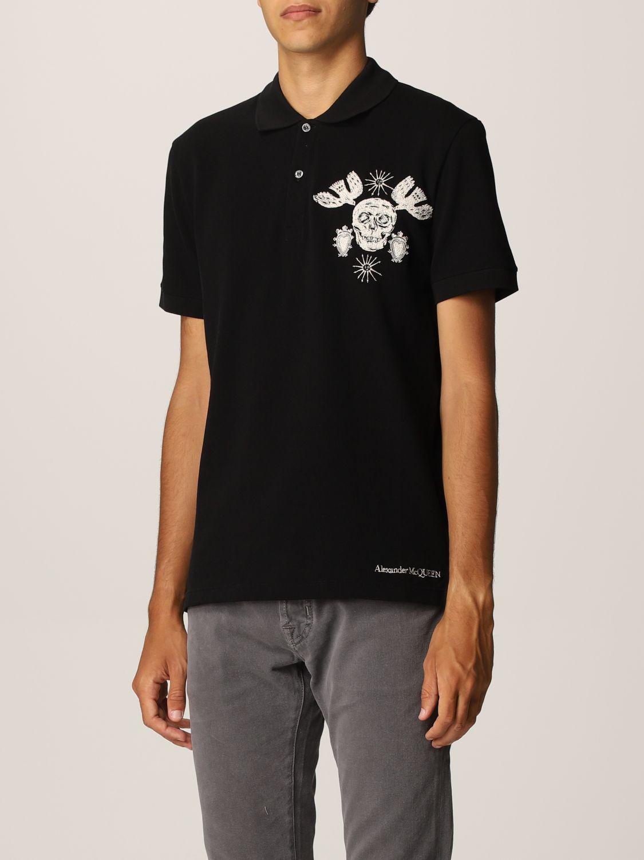 Polo shirt Alexander Mcqueen: Alexander McQueen polo shirt with skull black 4
