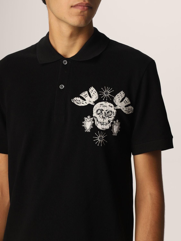 Polo shirt Alexander Mcqueen: Alexander McQueen polo shirt with skull black 5