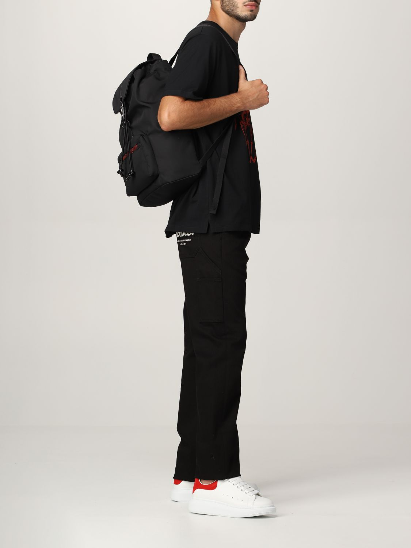 Zaino Alexander Mcqueen: Zaino Urban Alexander McQueen in nylon tecnico nero 2