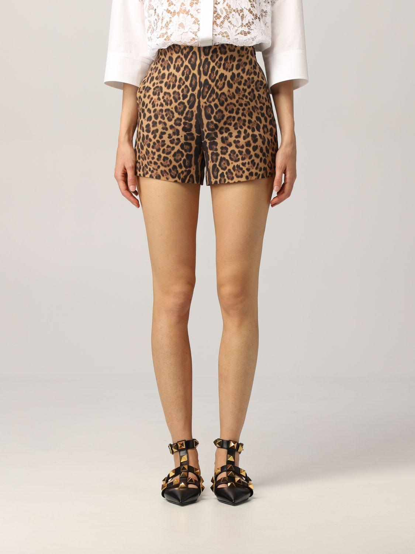 Pantaloncino Valentino: Pantaloncino Valentino in crêpe animalier fantasia 1