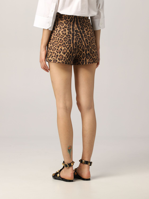 Pantaloncino Valentino: Pantaloncino Valentino in crêpe animalier fantasia 3