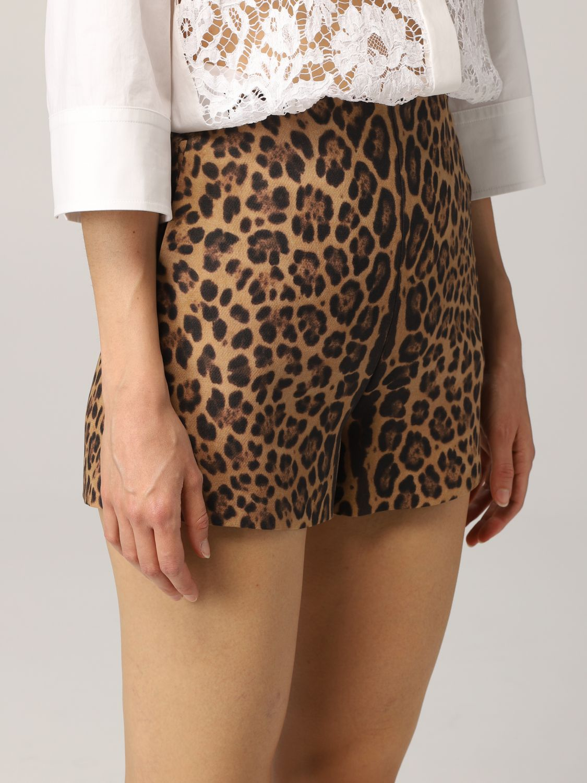 Pantaloncino Valentino: Pantaloncino Valentino in crêpe animalier fantasia 5