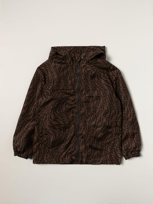 Jacket Fendi: Fendi jacket with all-over FF Vertigo logo tobacco 1