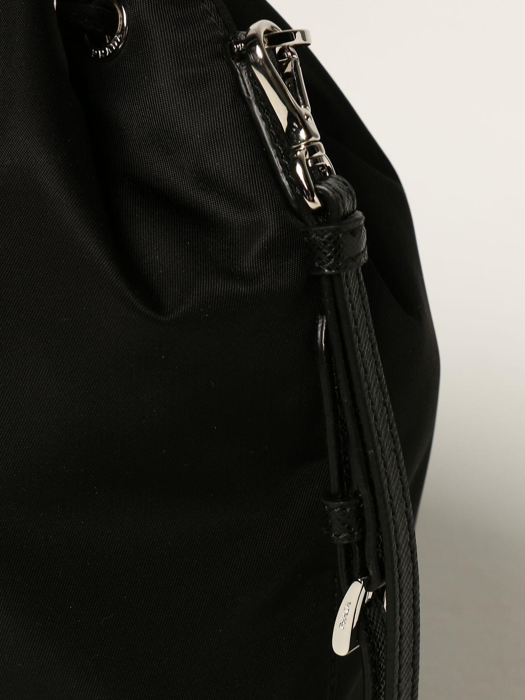 Clutch Prada: Borsa a secchiello Prada in nylon nero 3