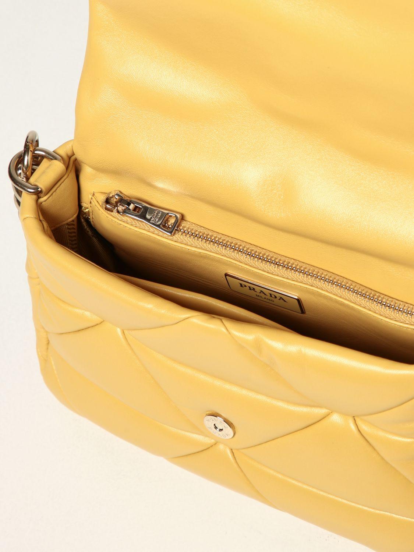 Borsa a spalla Prada: Borsa System Prada in nappa patch giallo 6