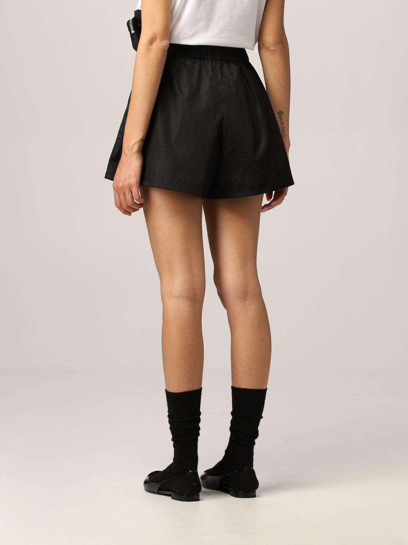 Pantaloncino Prada: Pantaloncino jogging Prada in nylon con pochette nero 3