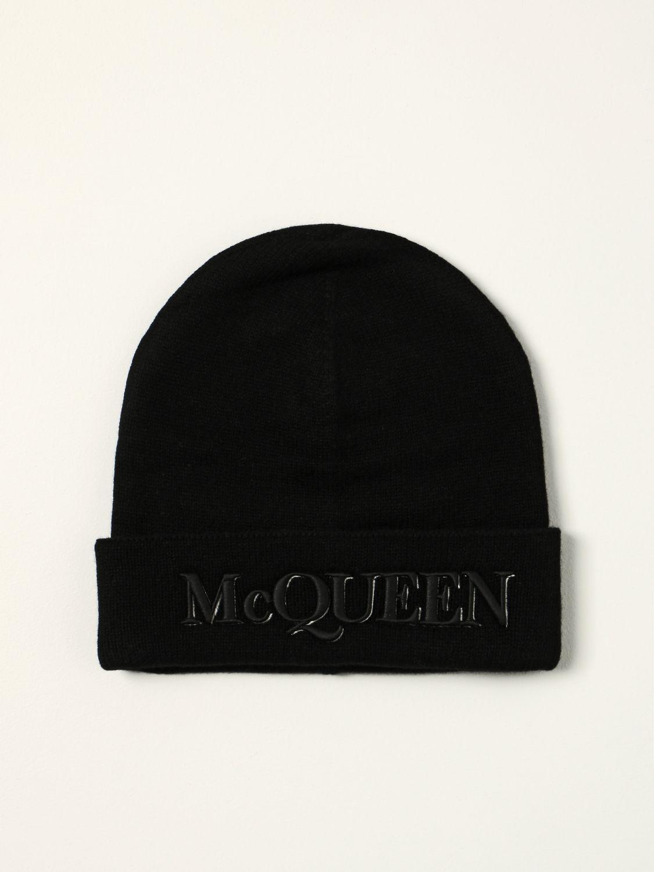 Hat Alexander Mcqueen: Alexander McQueen beanie hat with logo black 1