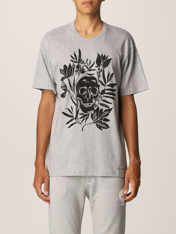 T-shirt Alexander Mcqueen: T-shirt Alexander McQueen con stampa teschio bianco 1