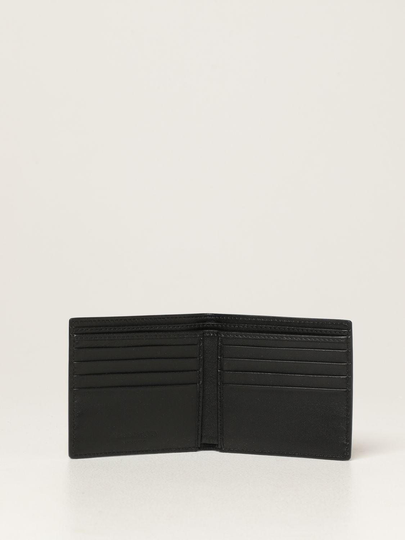 Wallet Alexander Mcqueen: Alexander McQueen leather wallet with skulls black 2
