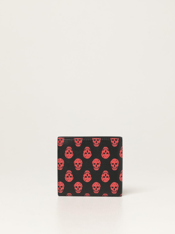 Wallet Alexander Mcqueen: Alexander McQueen leather wallet with skulls black 3