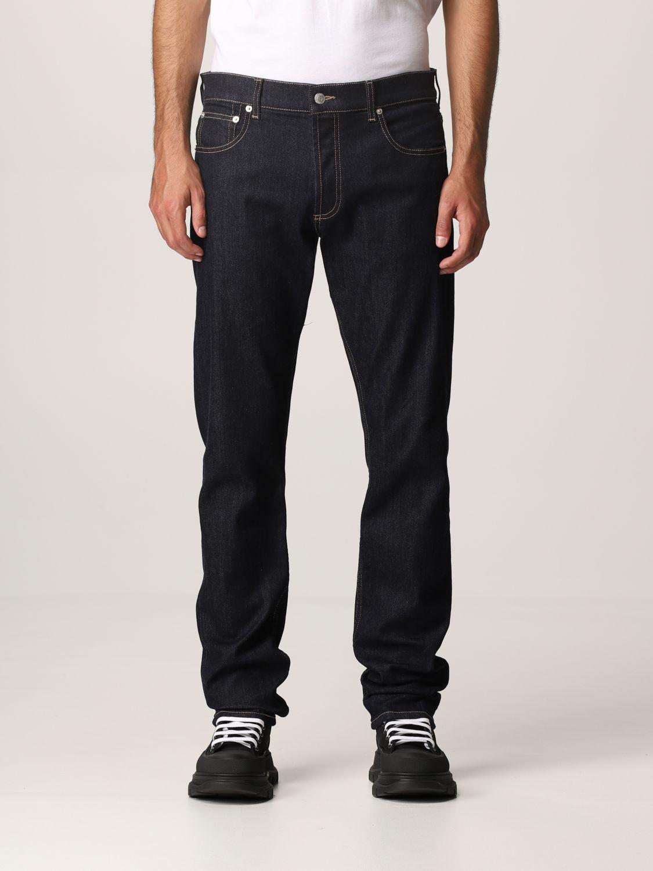 Jeans Alexander Mcqueen: Pants men Alexander Mcqueen indigo 1