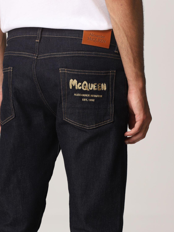 Jeans Alexander Mcqueen: Pants men Alexander Mcqueen indigo 5