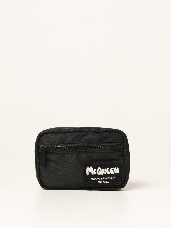 Portadocumenti Alexander Mcqueen: Porta tutto Alexander McQueen in nylon con logo Graffiti nero 1