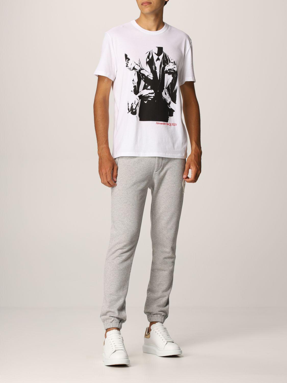 T-shirt Alexander Mcqueen: T-shirt Alexander McQueen con stampa grafica bianco 2
