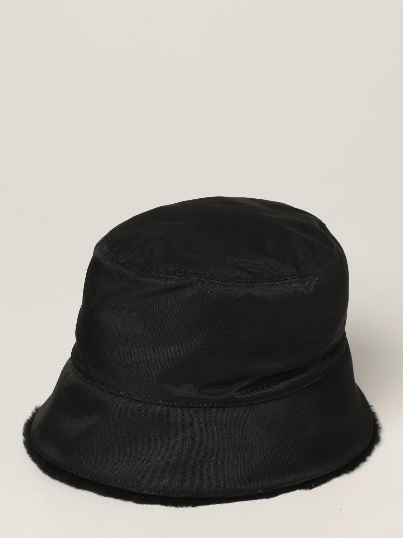Cappello Prada: Cappello da pescatore Prada con logo nero 1
