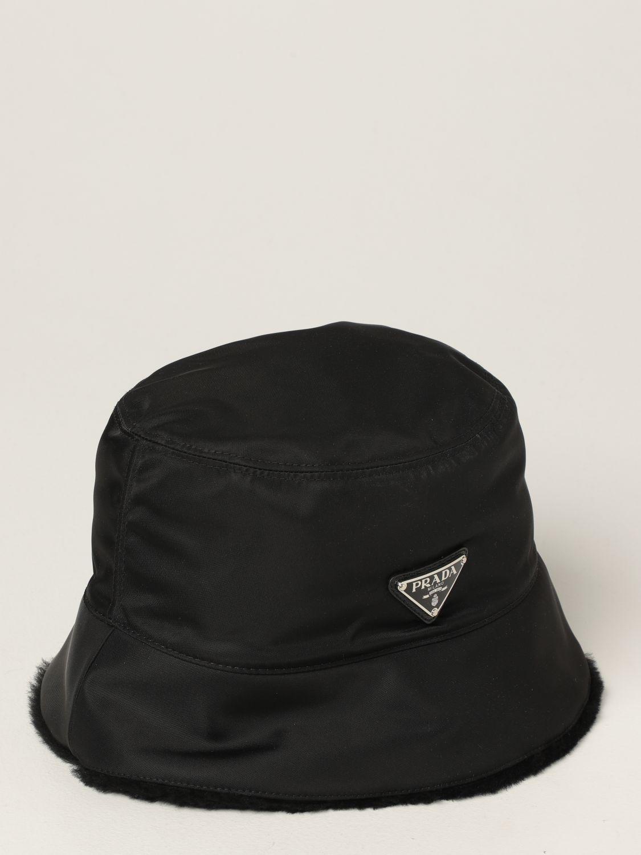 Cappello Prada: Cappello da pescatore Prada con logo nero 2