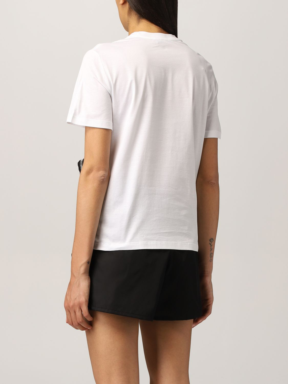 T-shirt Prada: T-shirt Prada in cotone e nylon bicolor bianco 3