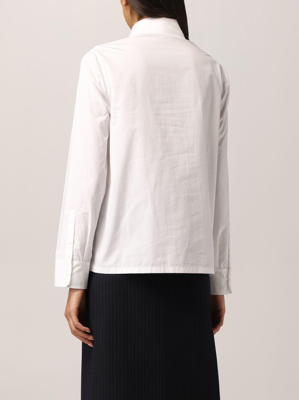 Camicia Prada: Camicia Prada in popeline con logo triangolare bianco 3
