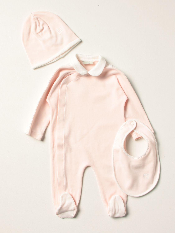 Распашонка Fendi: Костюмчик Детское Fendi розовый 1